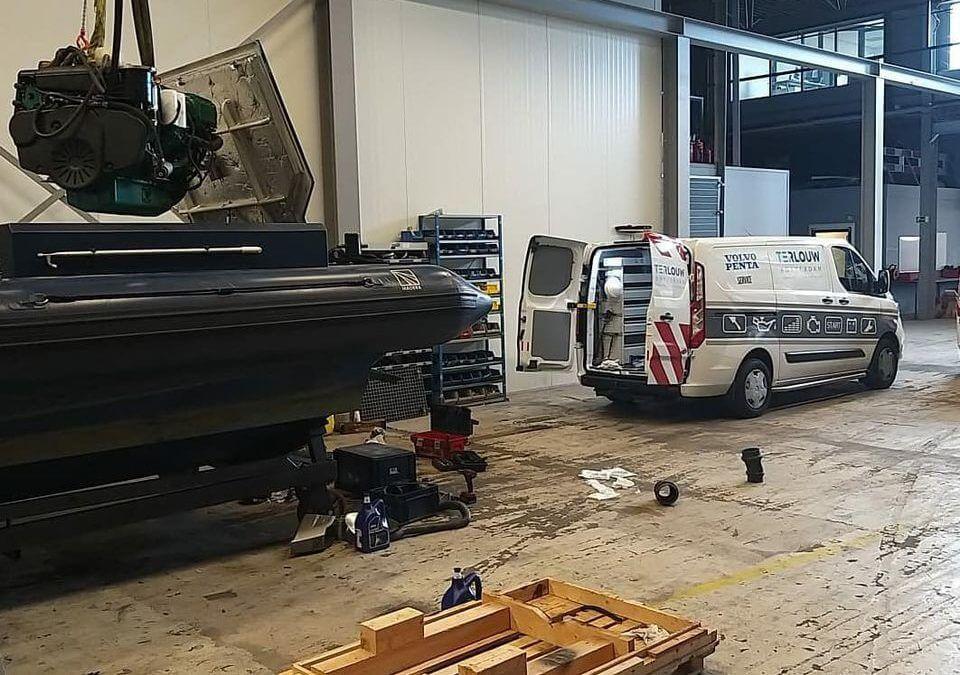 Volvo penta repair ship